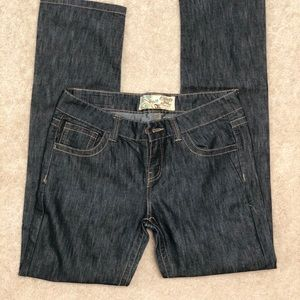 Dark rinse jeans